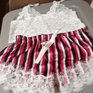 Pink lingerie sleepwear